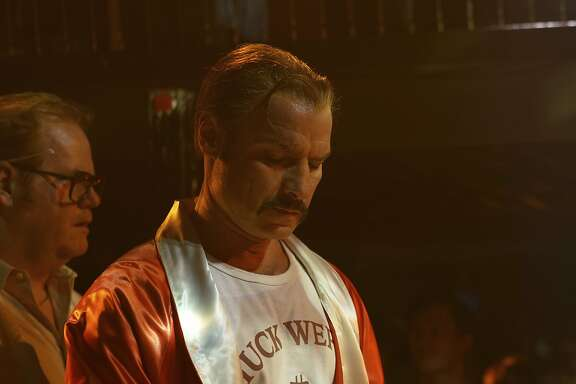 "This image released by IFC Films shows Liev Schreiber portraying boxer Chuck Wepner in a scene from the film, ""Chuck,"" opening in limited release on Friday. (Sarah Shatz/IFC Films via AP)"