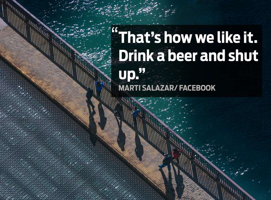 "Marti Salzar: ""That's how we like it. Drink a beer and shut up."" Photo: George Rose/Getty Images"
