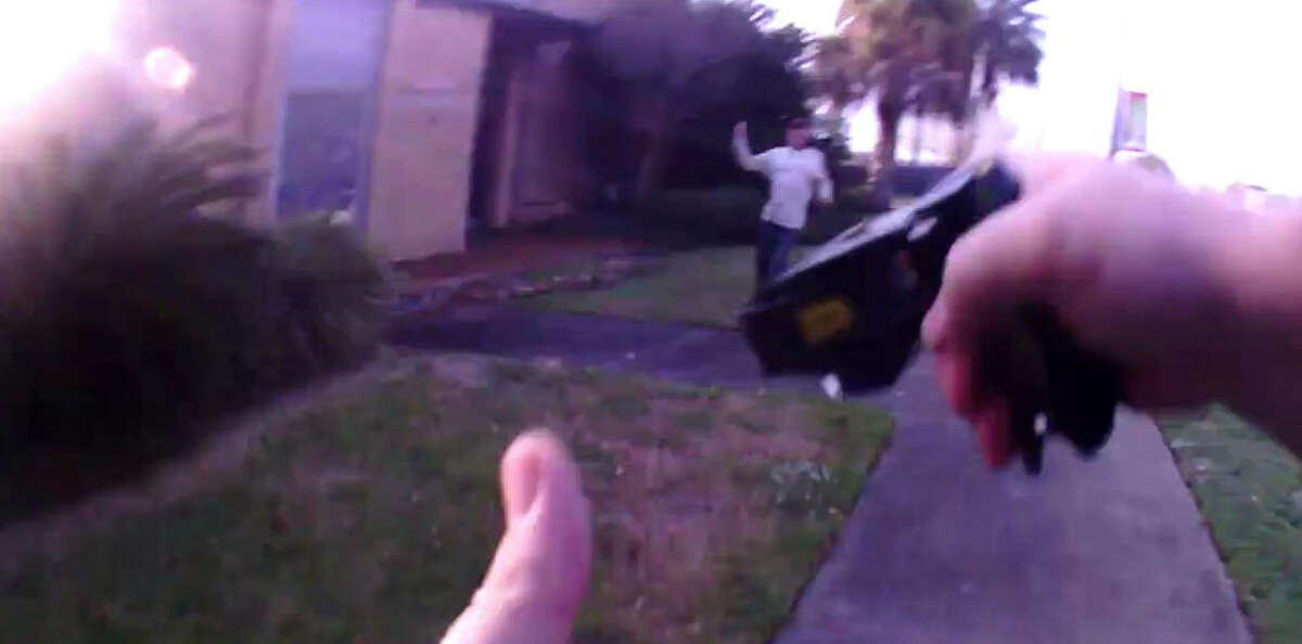 Galveston County grand jury decided to take no action against the Friendswood police officer who fatally shot a man accused of stealing a beer from a convenience store on Nov. 29, 2017. This image is from the officer's body camera.