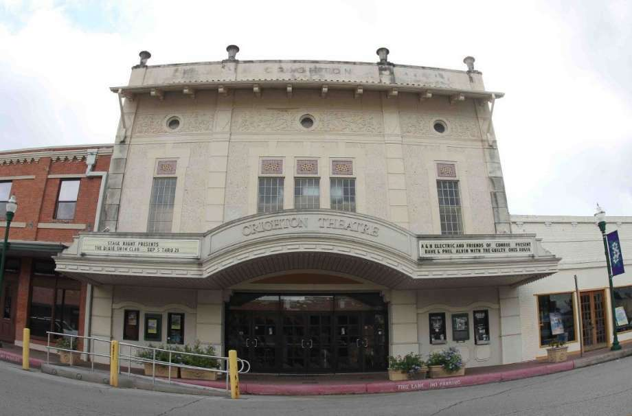 """The Crighton Theatre remains a """"Crown Jewel"""" of downtown Conroe on Main Street. The theatre opened in November 1935 as a movie theater, closed in 1967, was restored and renovated and reopened in 1979. The theatre today is the home of Stage Right of Texas theater group."""