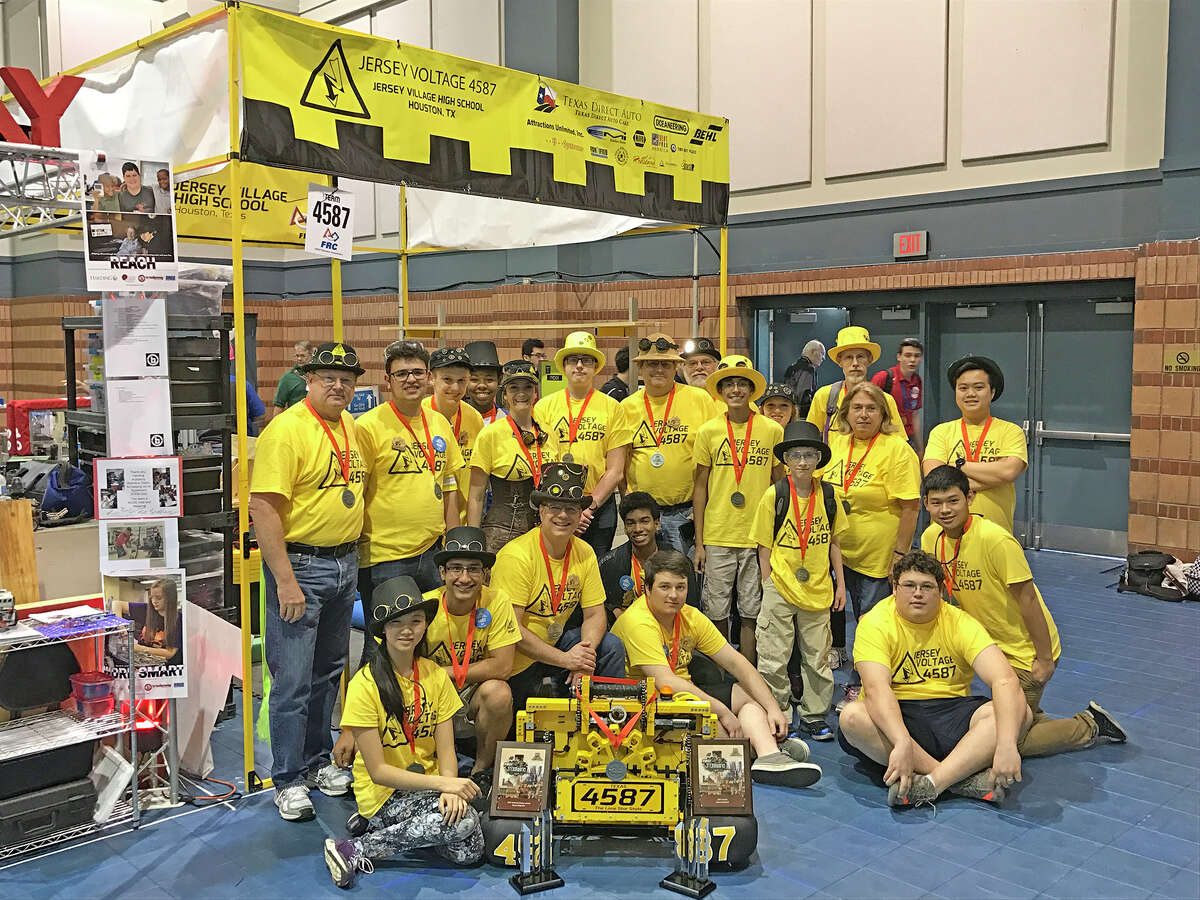 Team No. 4587, the Jersey Voltage, finished its FIRST Robotics season in the semifinals of the World Robotics Championships April 19-22 at the George R. Brown Convention Center.