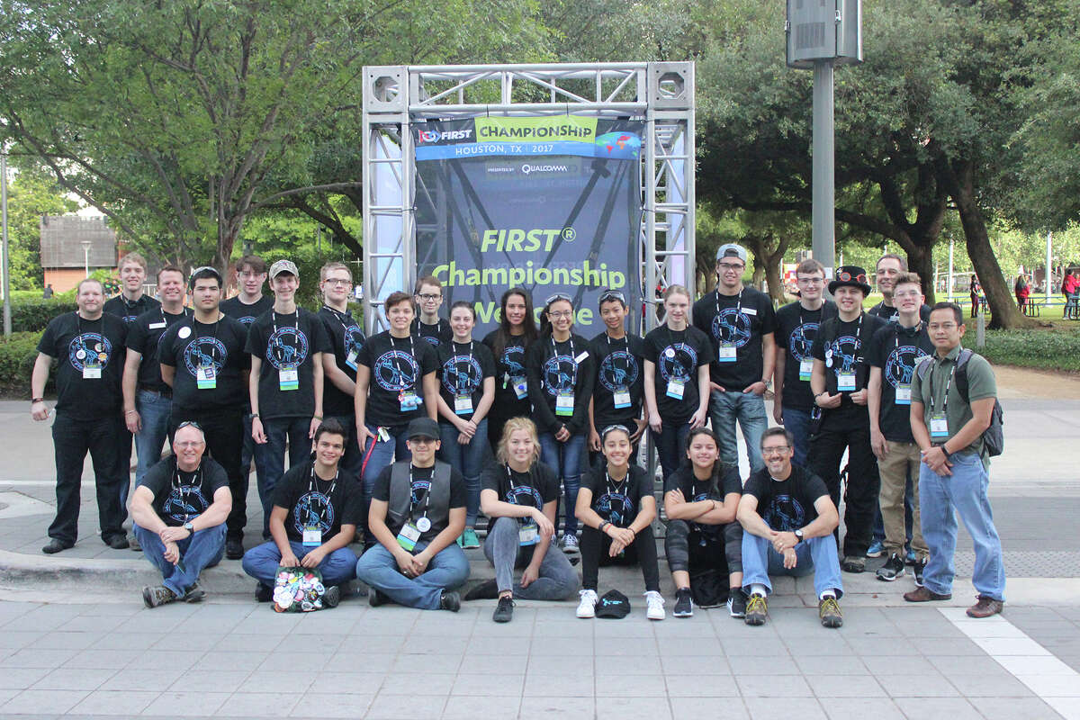 Team No. 3335, the Cy-Borgs, featuring students from four CFISD high schools, wrapped up a successful FIRST Robotics competition year at the World Robotics Championships April 19-22 in Houston.