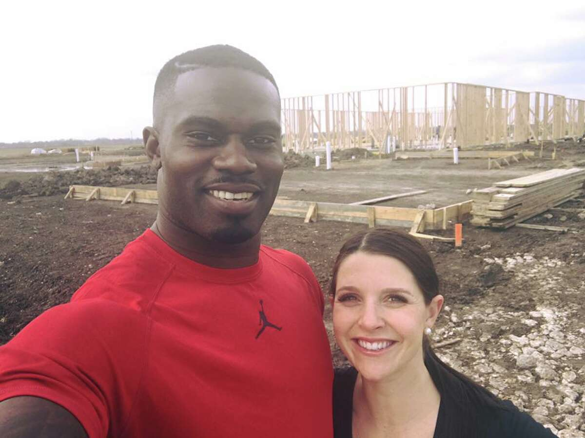Buffalo Bills safety and Super Bowl champion James Ihedigbo and his wife, Brittany Ihedigbo, are opening a Kiddie Academy day care center in Rosenberg.