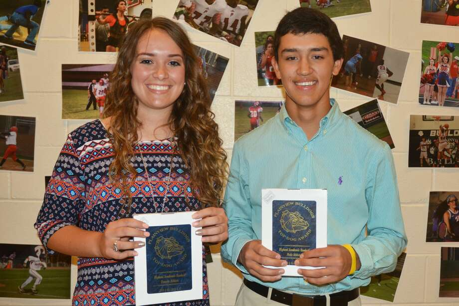 Top Academic Award winners Macey Mayberry and Isaiah Garcia Photo: Skip Leon/Plainview Herald