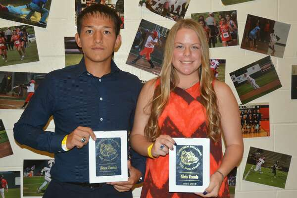 Boys' and girls' tennis Top Dogs Josue Duran and Misty Bass