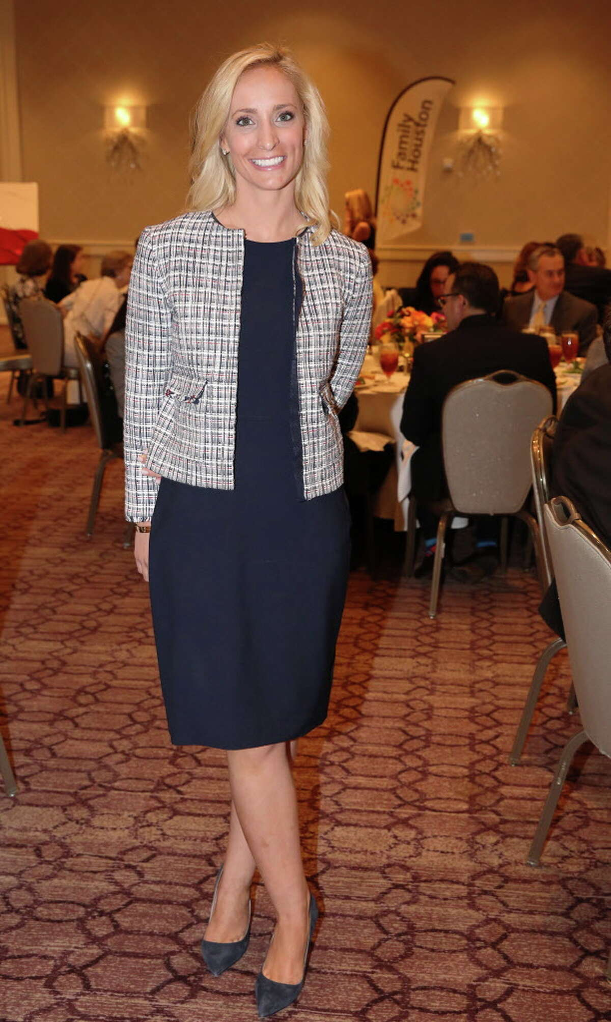Guest speaker Elizabeth McIngvale poses for a photo at the Family Houston luncheon at The Briar Club Wednesday, May 10, 2017, in Houston.