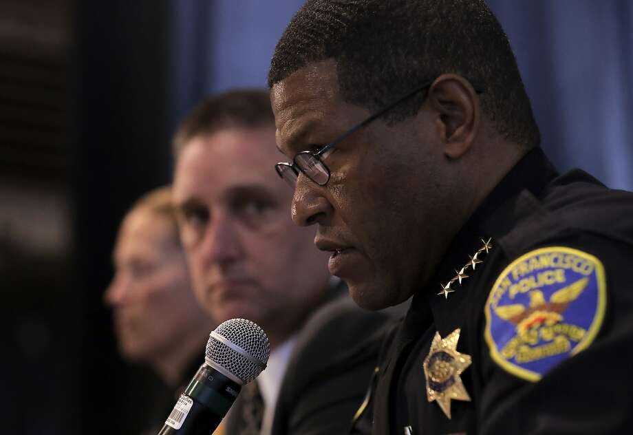 San Francisco's Chief of Police Bill Scott speaks at a town hall on Wednesday May 10, 2017, to discuss a fatal police shooting of a stabbing suspect. Photo: Michael Macor, The Chronicle
