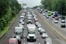 Traffic on I-95 northbound in Greenwich, Conn., July 2, 2015.