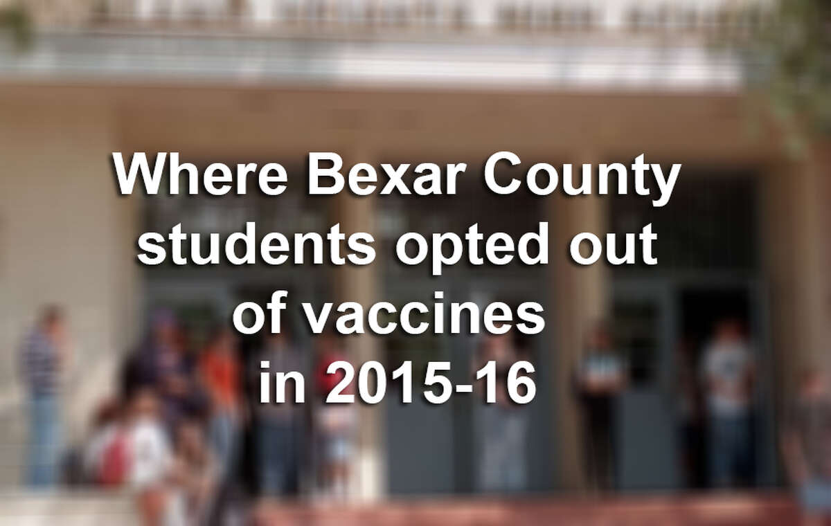 More than 1,500 students enrolled in Bexar County schools claimed exemptions from required vaccinations for personal or religious reasons click ahead to see where.
