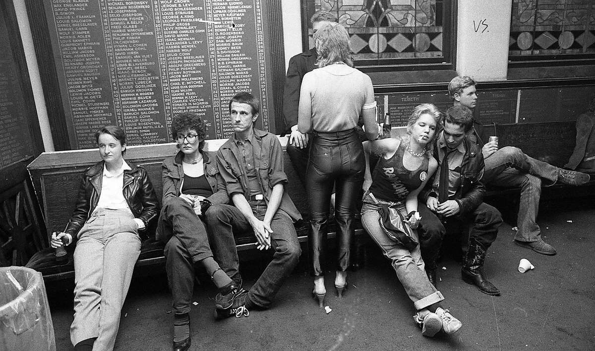 The San Francisco Punk music scene, with photos taken at many venues including Temple Beautiful, the Deaf Club and Mabuhay Gardens , October 16, 1979