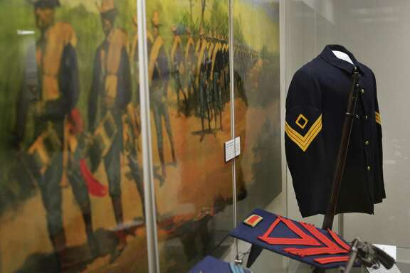 Uniforms of soldiers in the U.S. Army have changed drastically since 1845 when Fort Sam Houston was built. Jacqueline Davis, curator of the Fort Sam Houston Museum gives a tour on Thursday, May 4, 2017.