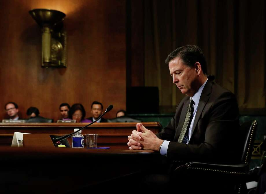 FBI Director James Comey, shown testifying at a Senate Judiciary Committee hearing, was ousted in the midst of an investigation into whether Trump's campaign had ties to Russia's election meddling.(Carolyn Kaster/ Associated Press file) Photo: Carolyn Kaster, STF / Copyright 2017 The Associated Press. All rights reserved.