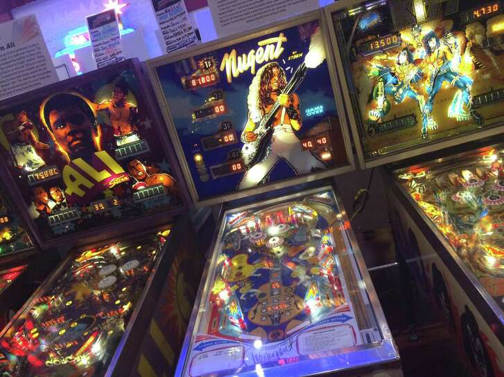 The Silverball Museum in Delray Beach has 88 pinball machines and other games to play. (Richard Tribou/Orlando Sentinel/TNS)