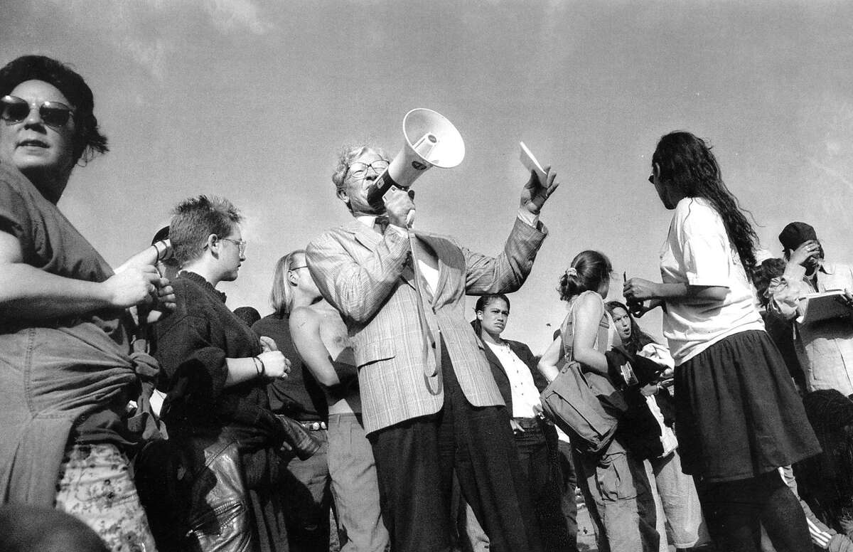 Up to 200 people gathered at Dolores Park in San Francisco on May 4, 1992, many of them people who had been arrested in San Francisco for curfew or other violations. Lawyers were present to offer free legal advice. San Francisco had a curfew during unrest that followed the acquittal of Los Angeles police officers charged in the beating of Rodney King.