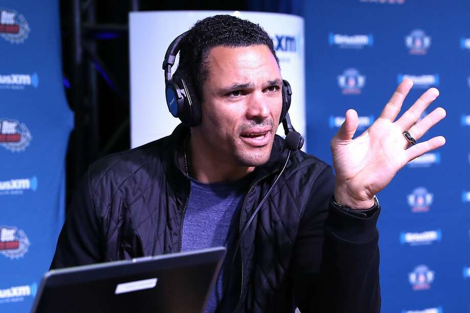 Tony Gonzalez visits the SiriusXM set at Super Bowl 51 Radio Row at the George R. Brown Convention Center on February 2, 2017 in Houston, Texas. (Photo by Cindy Ord/Getty Images for Sirius XM) Photo: Cindy Ord / Getty Images For Sirius XM
