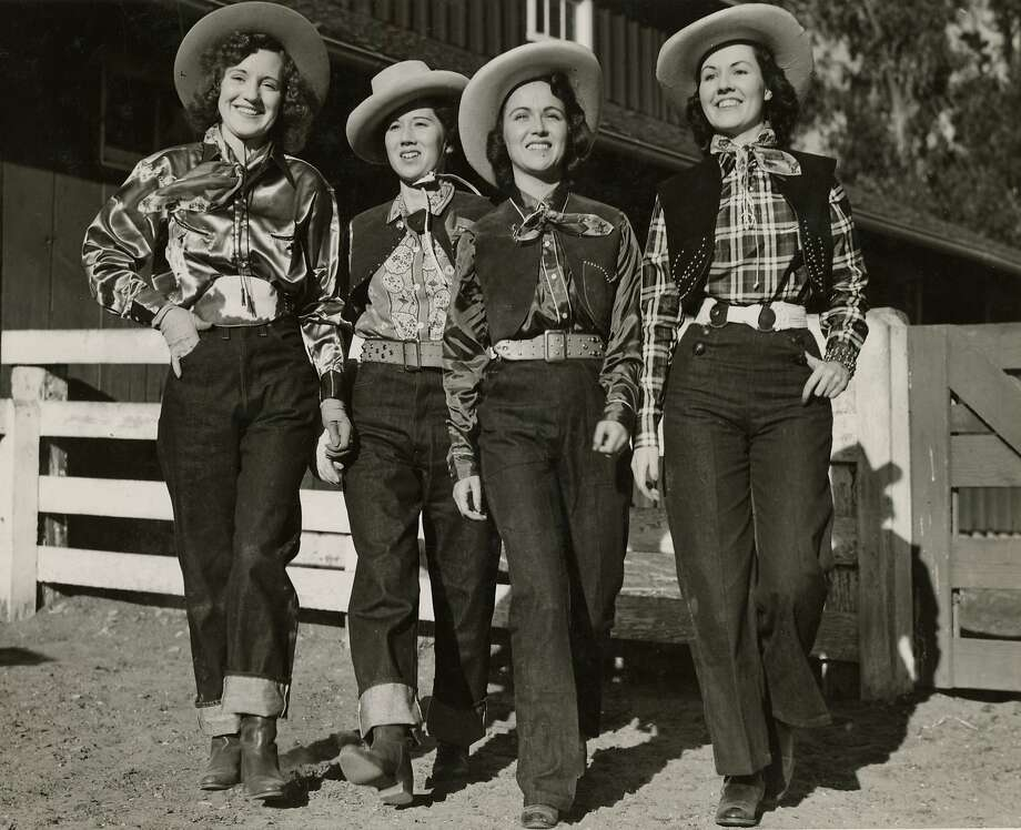 1930s: Levi�s introduced their first blue jeans for women in 1934 and dubbed them �Lady Levi�s.� To distinguish the working women�s pants from the original 501s for men, they were given the lot number 701.   As vacationing on dude ranches became a travel fad in the 1930s, fashion-forward women sported head-to-toe Western wear � Stetson cowboy hats, silk scarves and cuffed jeans. �It was the first time we�re seeing jeans worn as fashion instead of work pants,� said Panek. Photo: Levi's