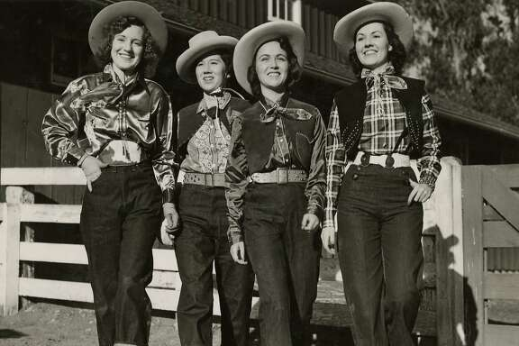 1930s: Levi�s introduced their first blue jeans for women in 1934 and dubbed them �Lady Levi�s.� To distinguish the working women�s pants from the original 501s for men, they were given the lot number 701.   As vacationing on dude ranches became a travel fad in the 1930s, fashion-forward women sported head-to-toe Western wear � Stetson cowboy hats, silk scarves and cuffed jeans. �It was the first time we�re seeing jeans worn as fashion instead of work pants,� said Panek.