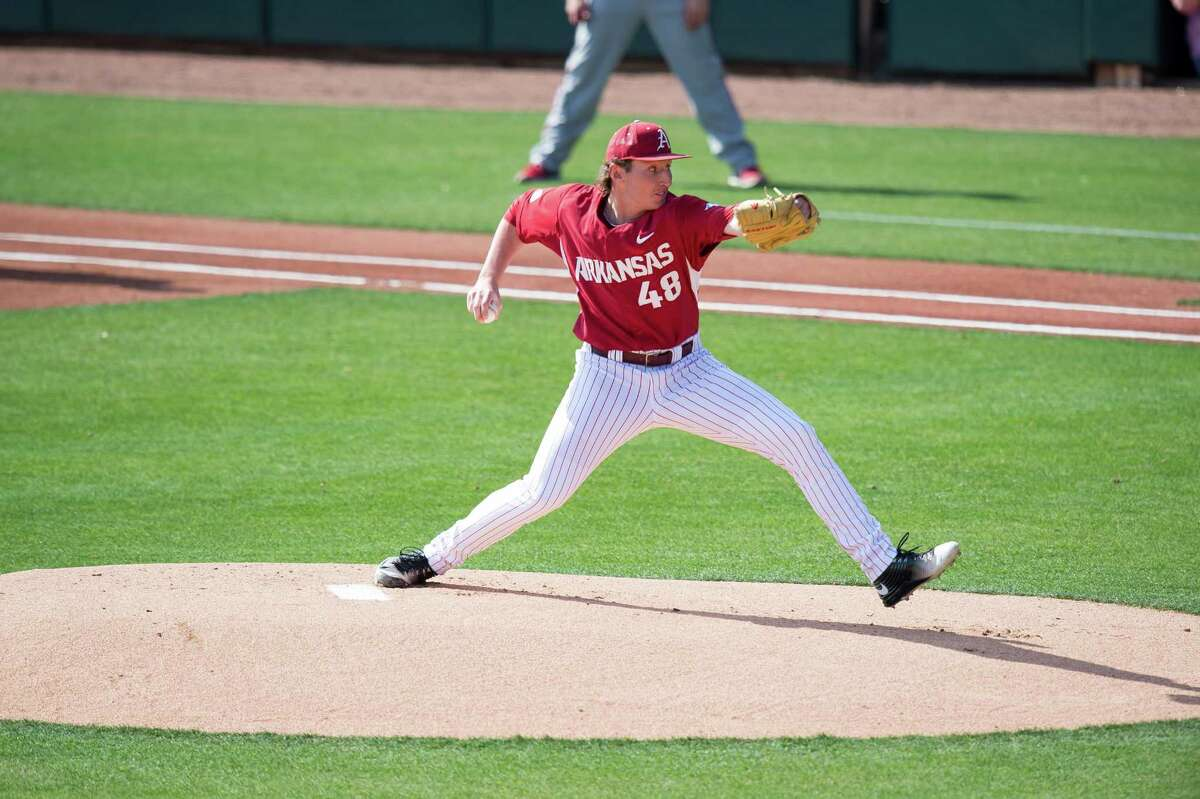 Arkansas pitcher and former Magnolia West Mustang Trevor Stephan was recently selected as SEC Pitcher of the Week.