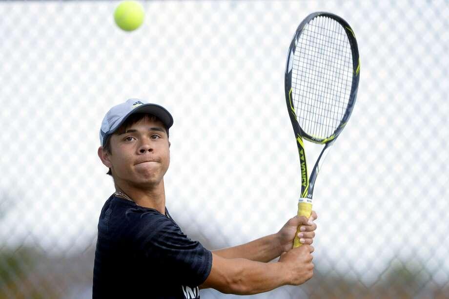 Grady junior Dominic Gibson photographed during practice May 9, 2017, at Bush Tennis Center. James Durbin/Reporter-Telegram Photo: James Durbin
