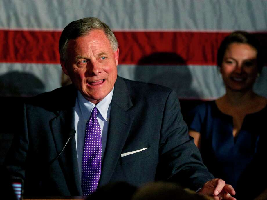 Sen. Richard Burr, R-N.C., talks to supporters as he gives his acceptance speech after winning re-election in Winston-Salem, N.C., Tuesday, Nov. 8, 2016 (AP Photo/Nell Redmond) Photo: Nell Redmond, FRE / FR25171 AP