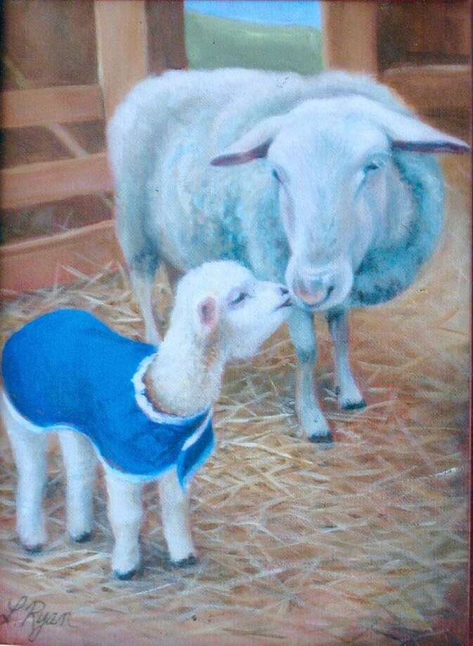 "Burnham Library in Bridgewater is presenting an exhibit of works by Lorraine Ryan of New Milford through May 31. Above is ""Mary's Little Lamb."" The show may be seen during library hours Tuesdays from 1 to 5 p.m., Wednesdays from 9 a.m. to 6 p.m., Thursdays from 9 a.m. to 5 p.m. and Saturdays from 9 a.m. to 1 p.m. at the 62 Main St. South library. For more information, visit www.burnhamlibrary.org. Photo: Courtesy Of Burnham Library / The News-Times Contributed"