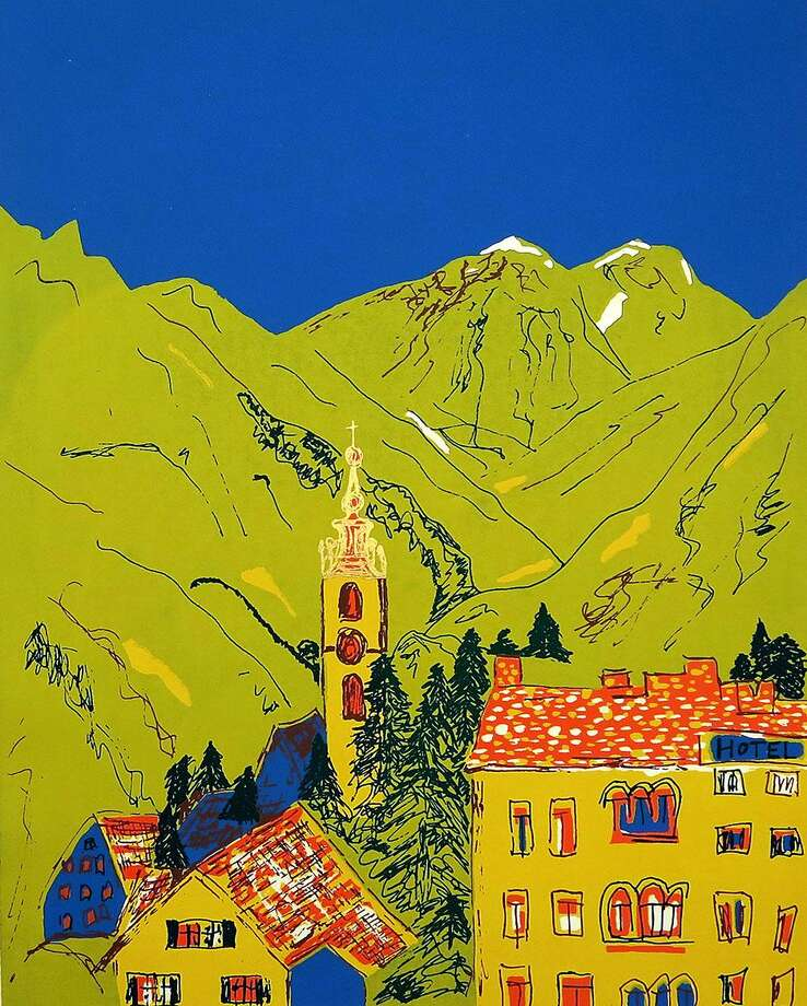 "Kent Memorial Library will present an exhibit, ""Then and Now,"" featuring works by South Kent artist Thomas Franken May 1 through June 30. An opening reception with the artist will be held May 13 from 2 to 4 p.m. The show will feature a retrospective of more than 50 years of his artwork. Above is Andermatt Day Ori. Photo: Courtesy Of Kent Memorial Library / The News-Times Contributed"