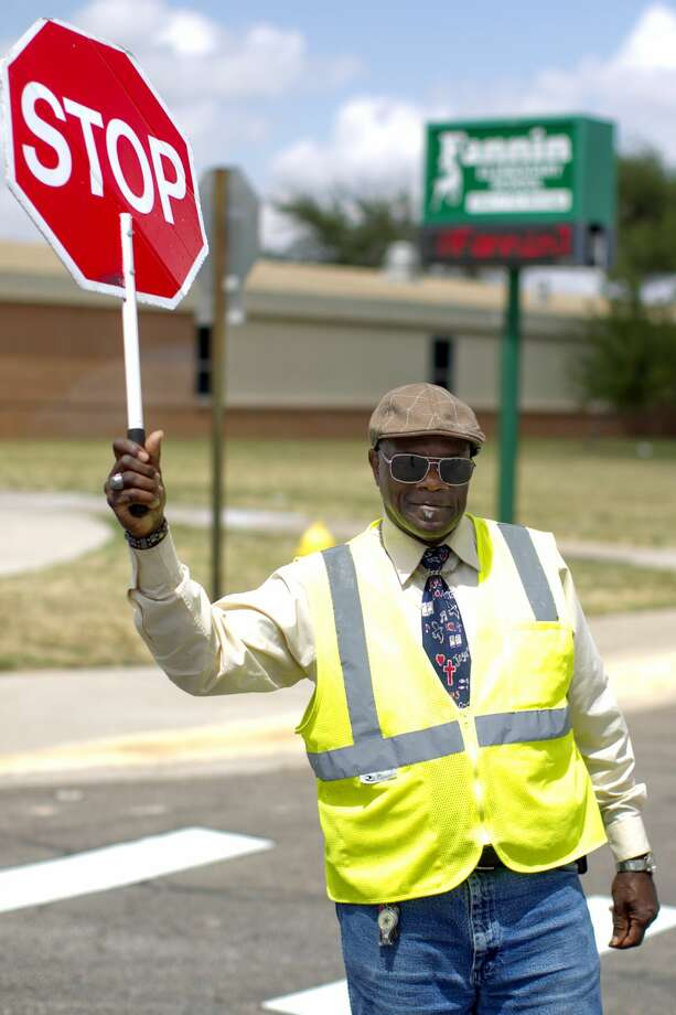Curtis Joiner, a crossing guard at Fannin Elementary School, photographed May 9, 2017. James Durbin/Reporter-Telegram Photo: James Durbin