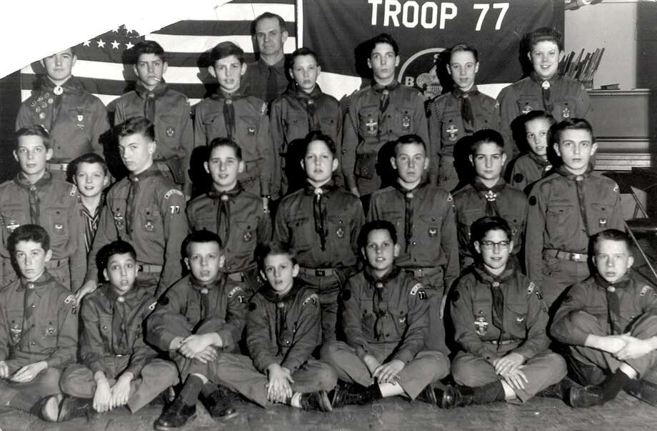 """New Milford has a long history of Boy and Girl Scout Troops. Above is Boy Scout Troop 77 in 1958. If you have a """"Way Back When"""" photo you'd like to share, contact Deborah Rose at 860-355-7324 or drose@newstimes.com. Photo: Contributed Photo / Contributed Photo / The News-Times Contributed"""