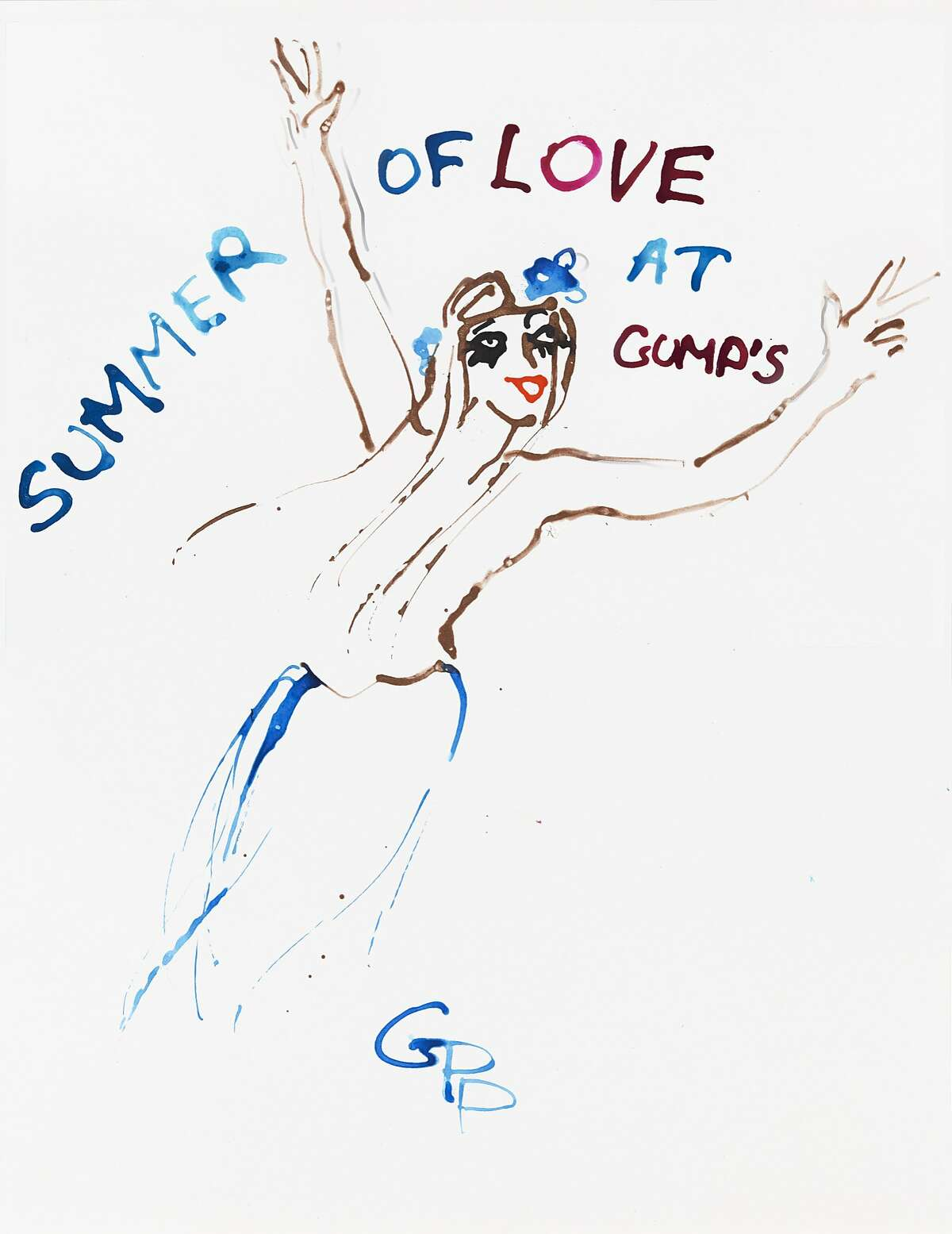 Fashion illustrator Gladys Perint Palmer's works, ranging in size and theme from 1960s and Summer of Love to fashion, to Venice Carnivale, to San Francisco culture/scenes, will be on sale, some for the first time ever available to the Bay Area collector at Gump's on May 17.