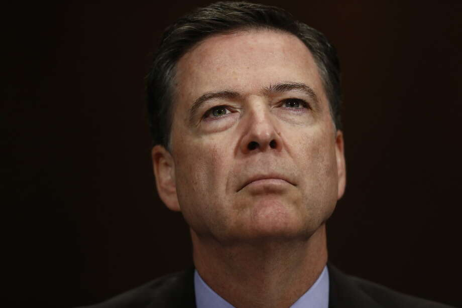 "In this May 3, 2017, file photo, FBI Director James Comey listens on Capitol Hill in Washington. President Donald Trump has fired Comey. In a statement on Tuesday, May 9, Trump says Comey's firing ""will mark a new beginning"" for the FBI. (AP Photo/Carolyn Kaster, File). Photo: AP Photo/Carolyn Kaster"