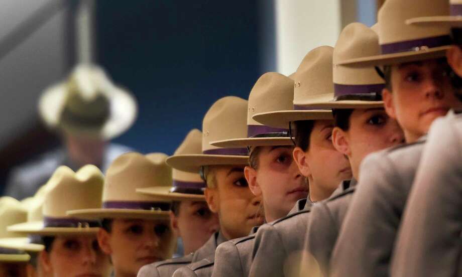 192 New Troopers line up at the 205th session graduation of Basic School of the New York State Police held at the Empire Plaza Convention Center Wednesday May 10, 2017 in Albany, N.Y.  (Skip Dickstein/Times Union) Photo: SKIP DICKSTEIN / 20040439A