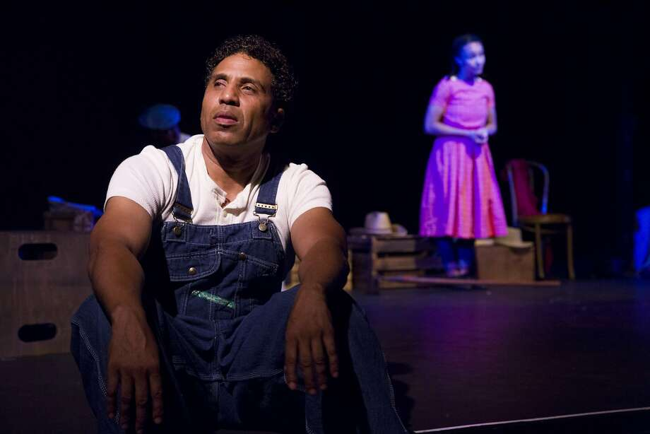 "From left: Myers Clark (playing Cephus Miles) and Tristan Cunningham (playing Pattie Mae Wells and Woman 1) during a dress rehearsal of ""Home"" presented by the Lorraine Hansberry Theatre on Wednesday, May 10, 2017, at the Buriel Clay Theater in San Francisco, Calif. Photo: Santiago Mejia, The Chronicle"