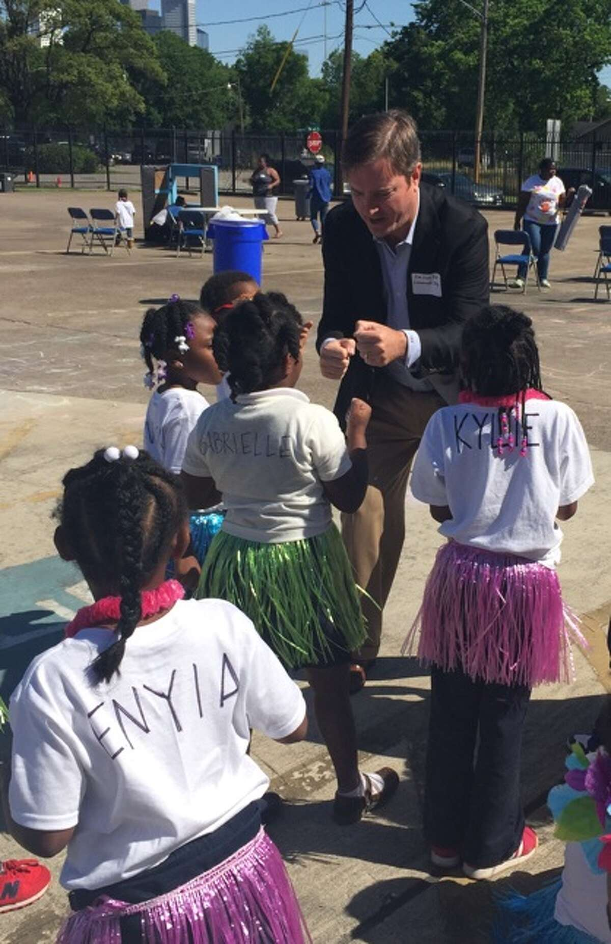 Hank Holmes, president of Cadence Bank, at Yellowstone Academy's Lemonade Day. Photo provided by Cadence Bank.