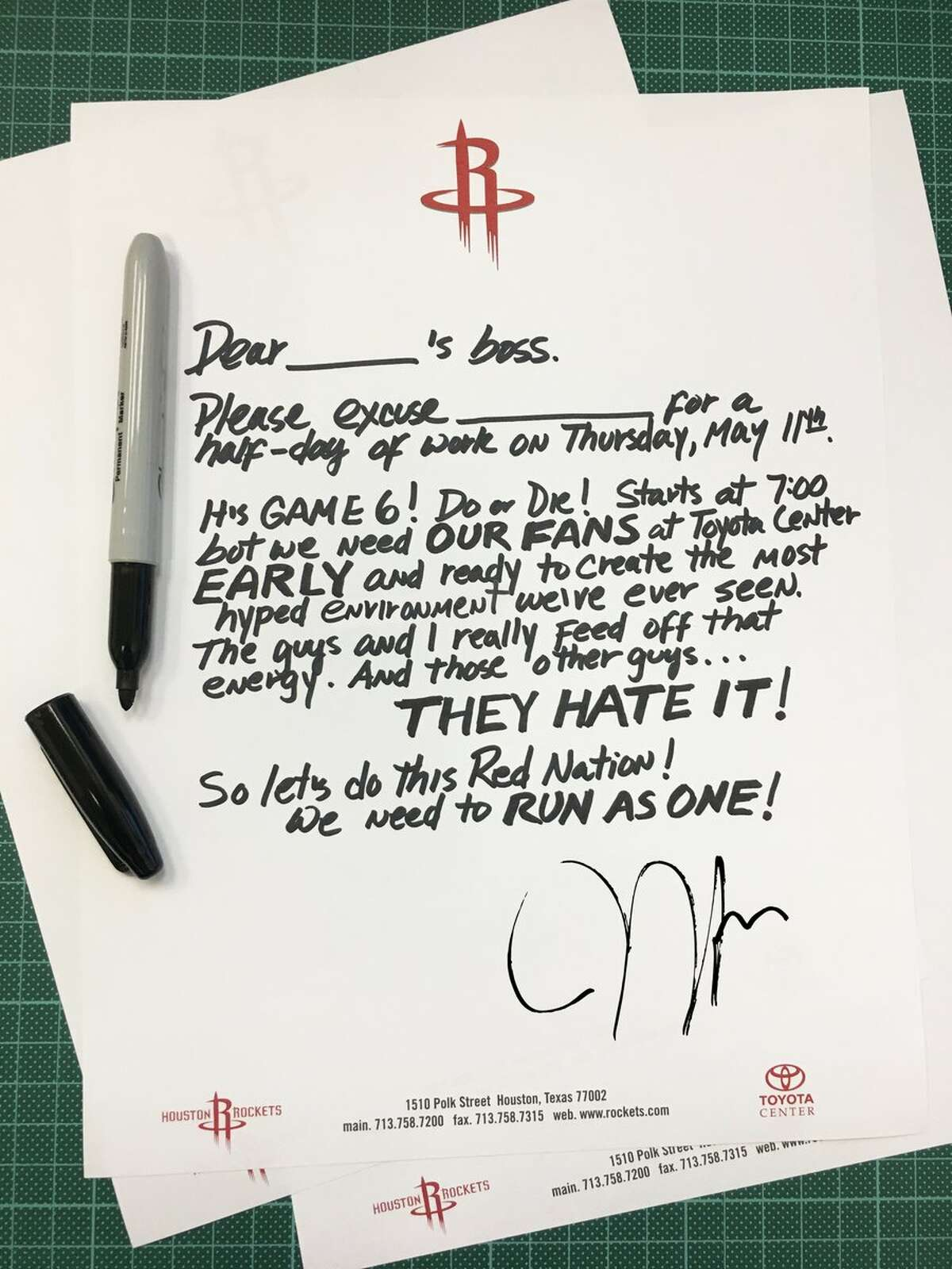 James Harden writes a sick note so you can skip work. >>Keep clicking for some of the most memorable moments from the series.