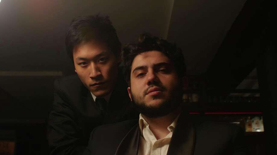 Luis Trevino (right) and actor Zunding Li (left), who stars in the film. Photo: Luis Trevino