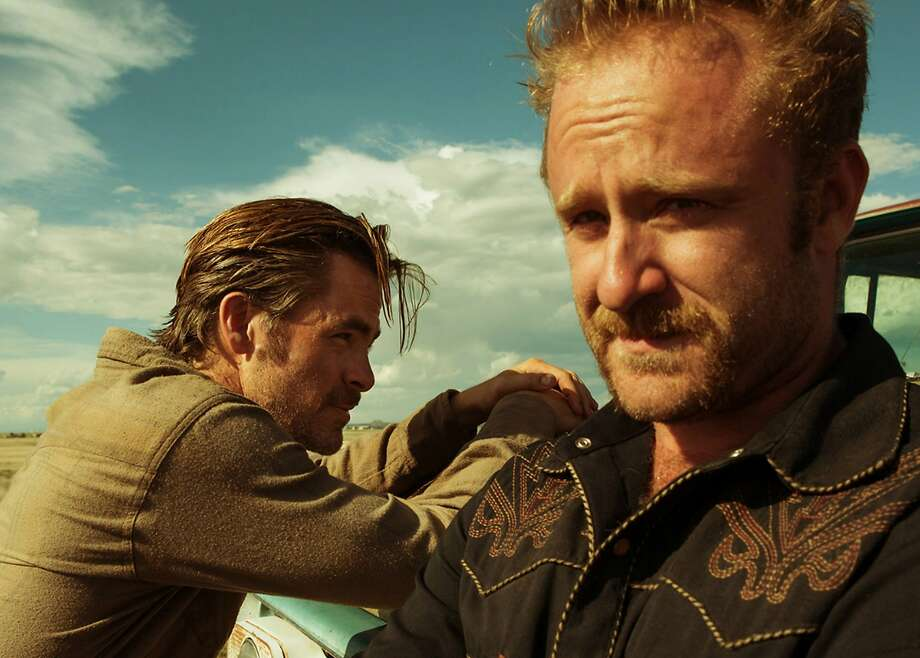 """Chris Pine (left) and Ben Foster, stars of """"Hell or High Water,"""" will reunite with director David Mackenzie for """"Outlaw King."""" Photo: CBS Films"""