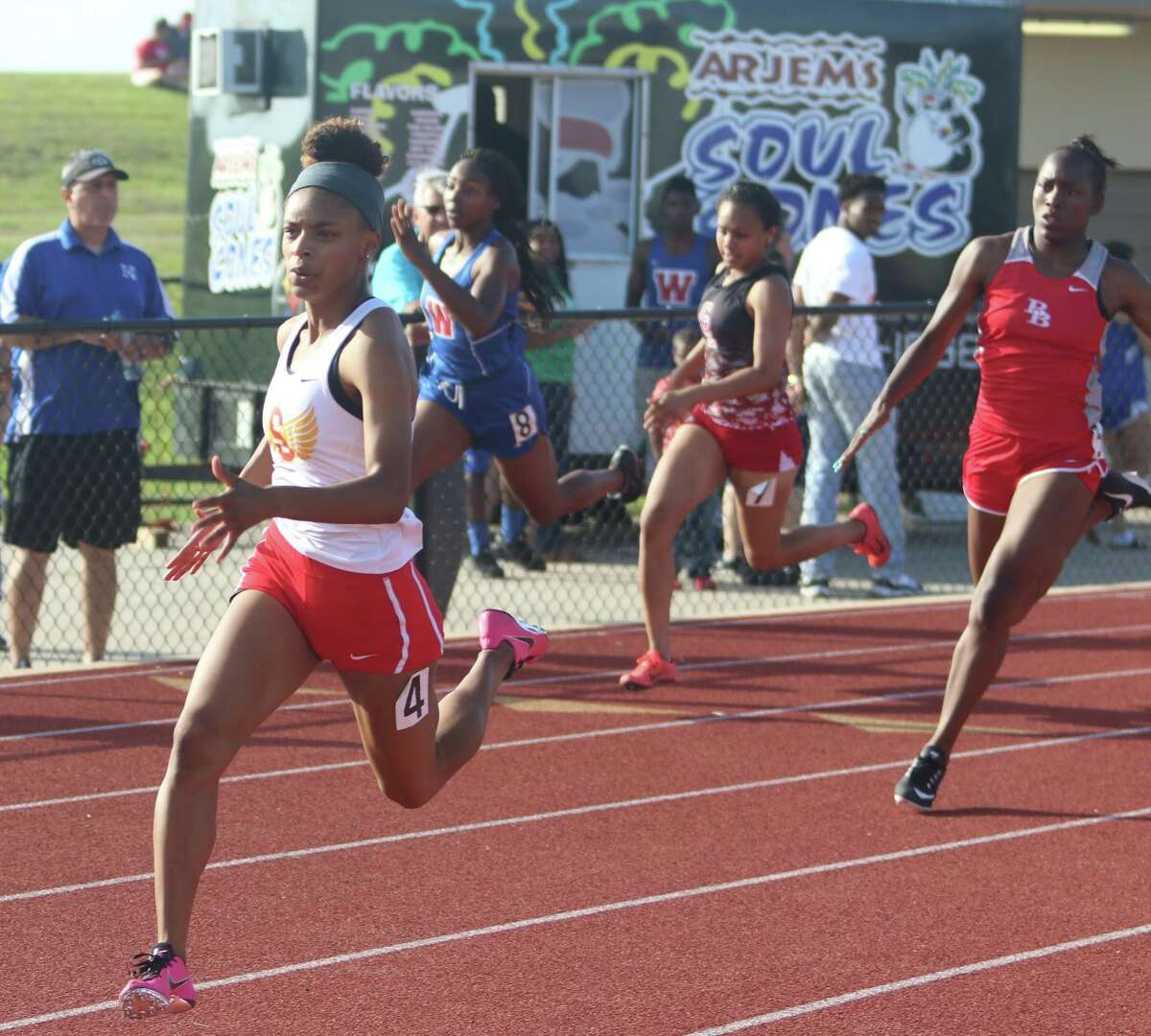Stafford senior Cheyenne Hill-Johnson qualified for the UIL Class 4A state track and field championships in the 100-meter dash and 200-meter dash. The Spartans will be represented in seven events in Austin.