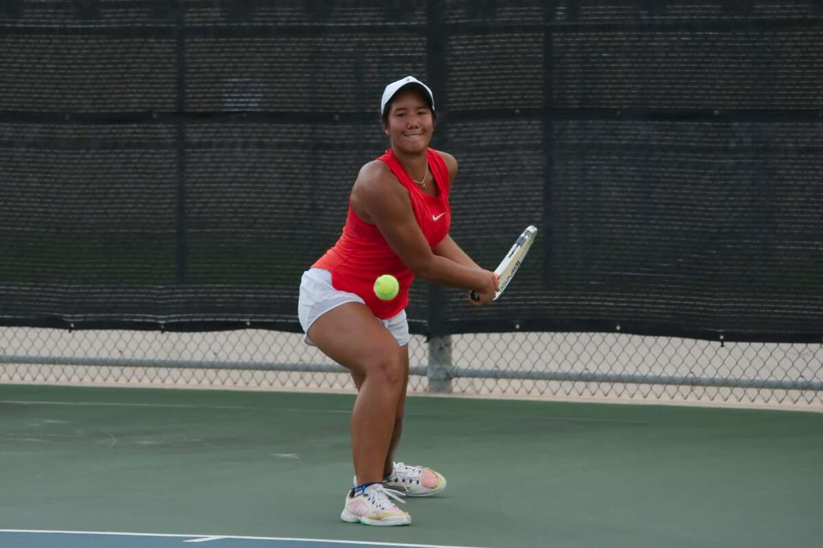 Megan Flores of Clear Lake hopes to make a strong showing the UIL Class 6A state tennis tournament next Thursday and Friday in College Station.