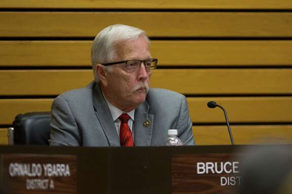 City council member Bruce Leamon Pasadena City Council meeting, Tuesday, April 18, 2017, in Pasadena. (Mark Mulligan / Houston Chronicle)