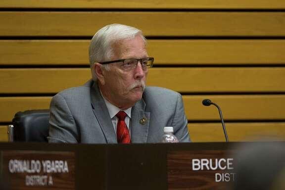 City council member Bruce Leamon Pasadena City Council meeting, Tuesday, April 18, 2017, in Pasadena. (Mark Mulligan / Houston Chronicle)