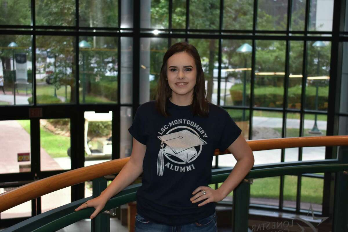 Kaitlyn McKinney is one of three students graduating with their associates degree at Lone Star College before graduating high school from charter school, iSchool.