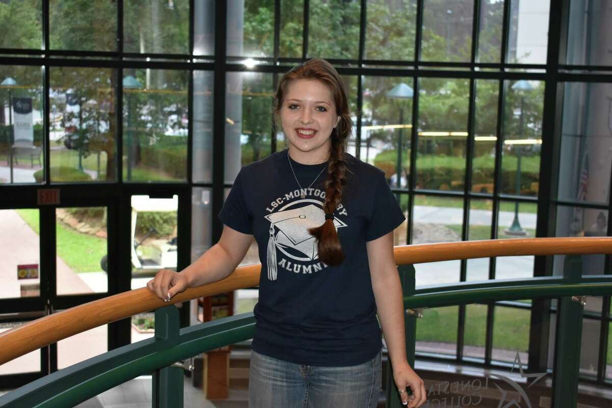 Bethany Presswood is one of three students graduating with their associates degree at Lone Star College before graduating high school from charter school, iSchool.