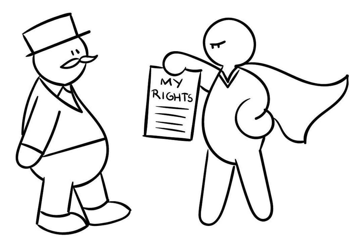 Cartoons illustrating debt-collection issues will be included in self-packets given to participants in the Financial Distress Project study.