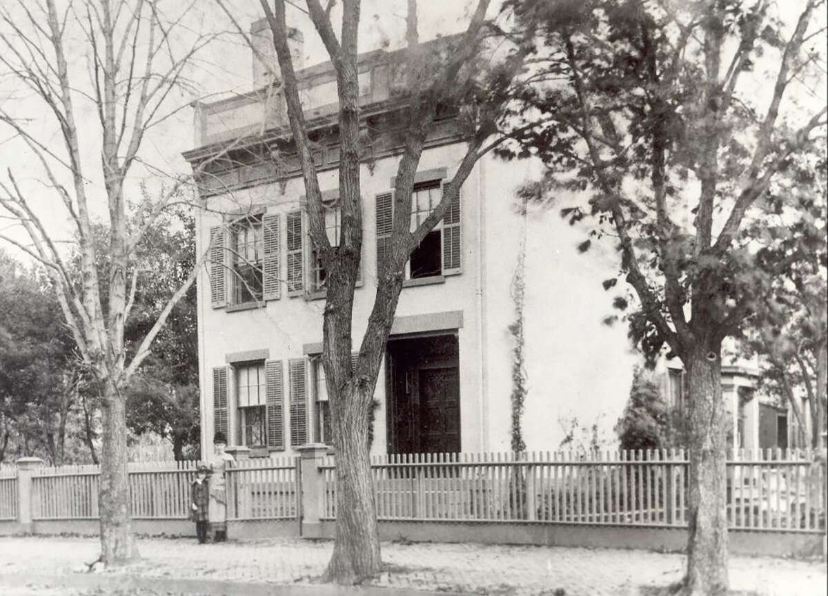 House of the Week: 554 First Ave., Troy | Realtor: Donald Smith of Keller Williams Capital District | Discuss: Talk about this house This photo was taken in the 1880s, when the brick was painted a pale yellow.