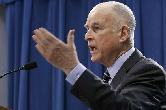 California Gov. Jerry Brown responds to question concerning his revised $124 billion state budget plan, he released Thursday, May 11, 2017, in Sacramento, Calif. (AP Photo/Rich Pedroncelli)