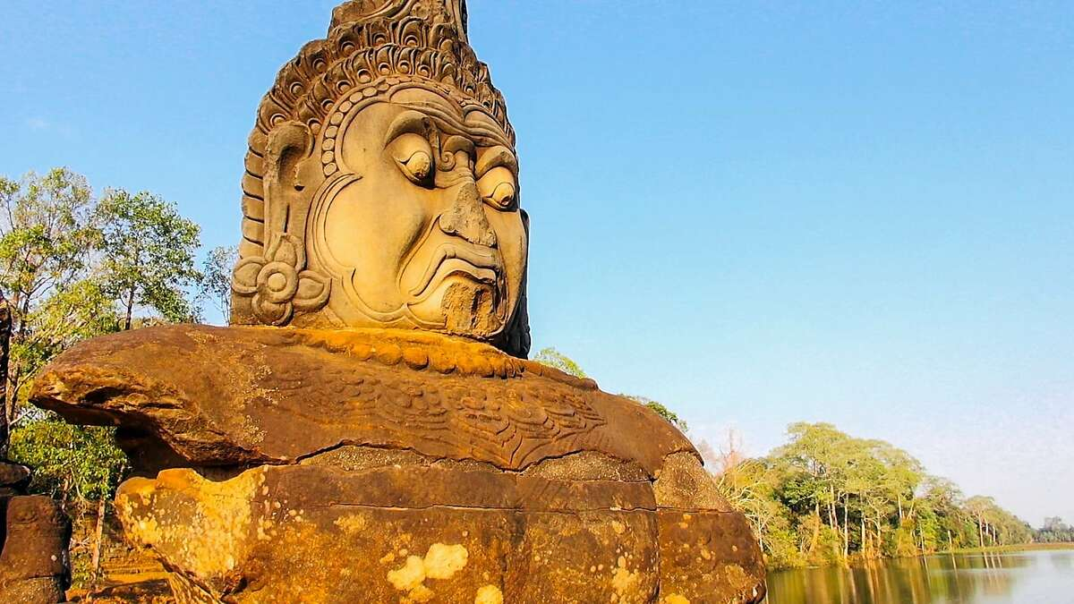 """Temple face in Cambodia from the documentary """"Angkor Awakens: A Portrait of Cambodia"""""""