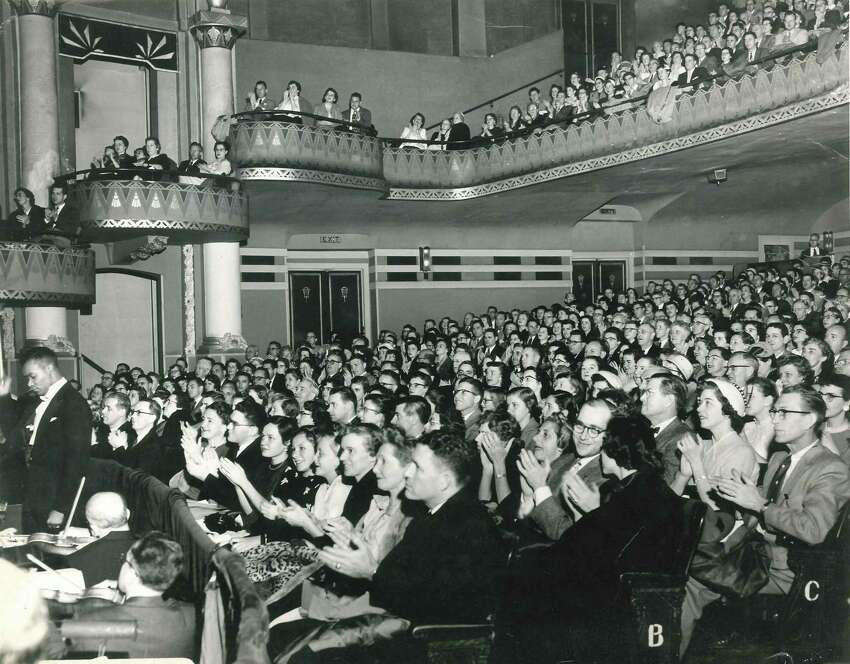 The audience at the Erie Theater for a performance of Showboat, 1956. Courtesy: Schenectady Light Opera Company