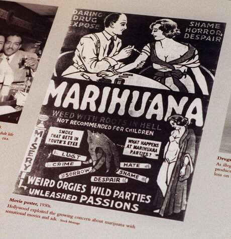 A 1930s antimarijuana movie poster was part of an exhibit at the DEA Museum in Arlington, Va. Photo: Associated Press