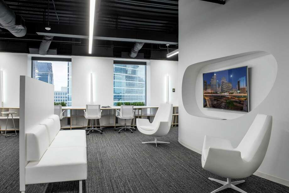 """Where the Sims might work: A social area from Inventure Design's """"DesignHive"""" project. Photo: Brookfield / Peter Molick Photography"""