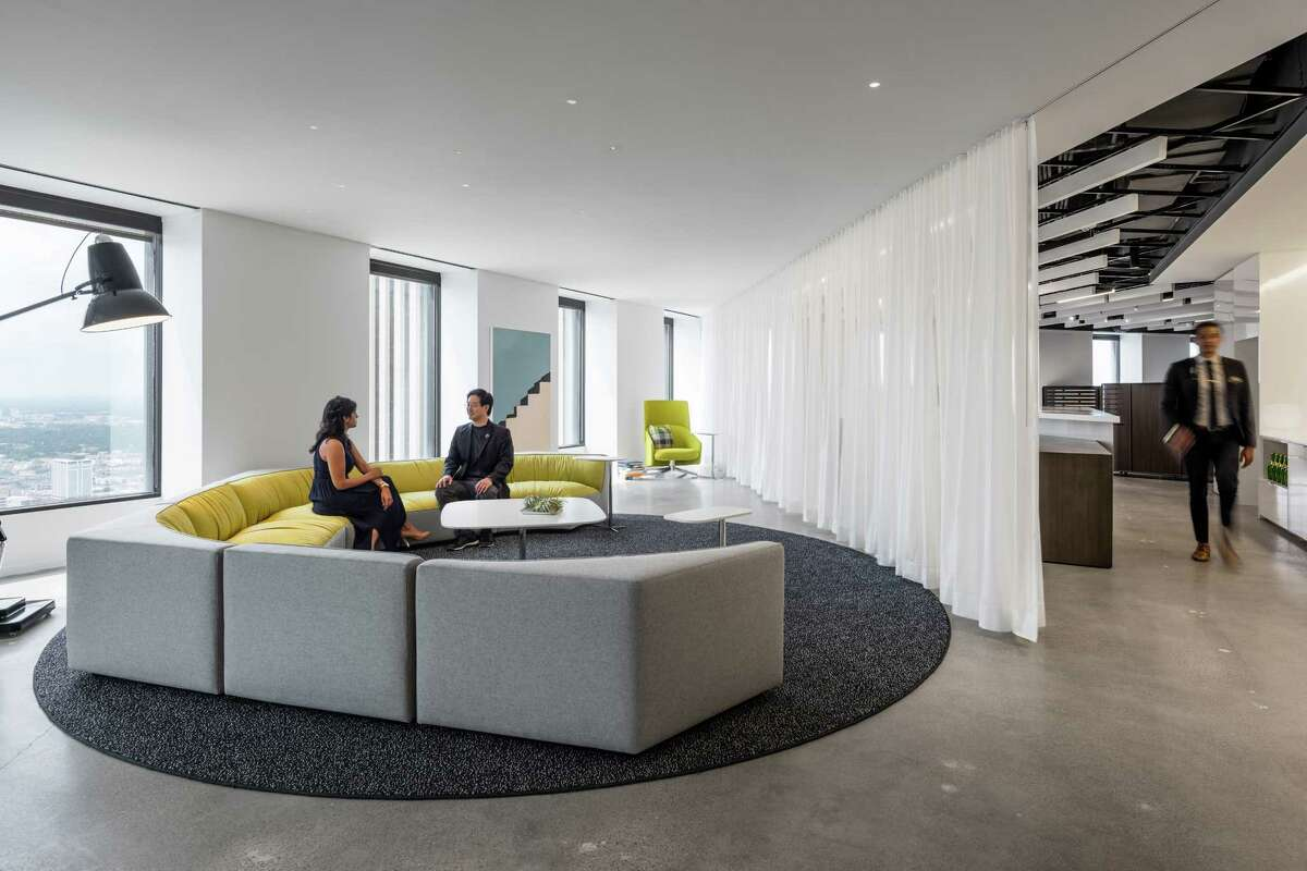 """From Gensler's """"DesignHive"""" project: A gathering entry space."""